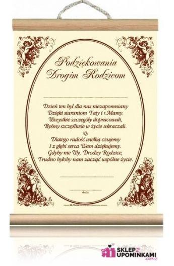 dyplom podziękowanie rodzicom