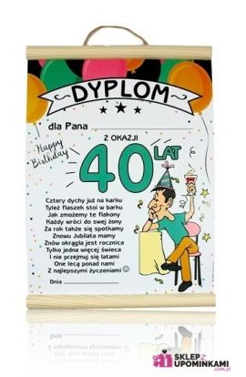 dyplom życzenia na 40 urodziny