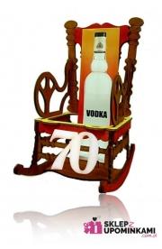 Stojaki na butelkę Fotel prezent na 70 Urodziny