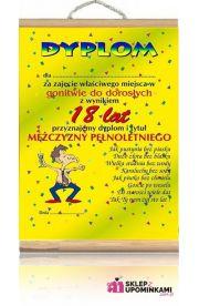 Dyplom życzenia 18 Urodziny Chłopaka pamiątka