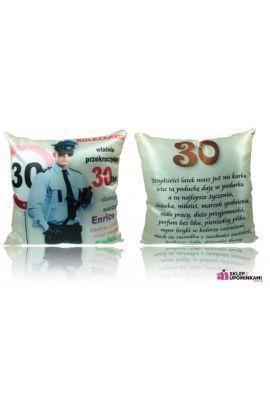 śmieszna poduszka prezent na 30 urodziny