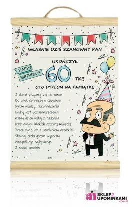 dyplom życzenia 60 urodziny