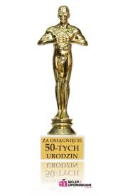 Statuetka Trofeum na 50 Urodziny Życzenia