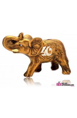 słoń na szczęście skarbonka 40 urodziny