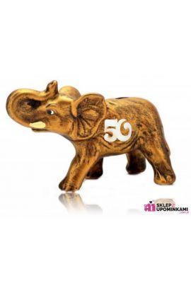 słoń z napisem prezent 50 urodziny