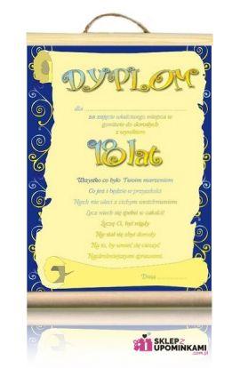 dyplomy okolicznościowe 18 urodziny