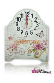 Zegar na desce ładny prezent Emeryta Emerytki