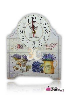 zegar kwiaty prezent na 18 30 40 50 60 70