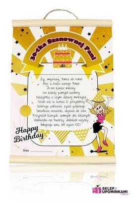 dyplom życzenia 30 urodziny