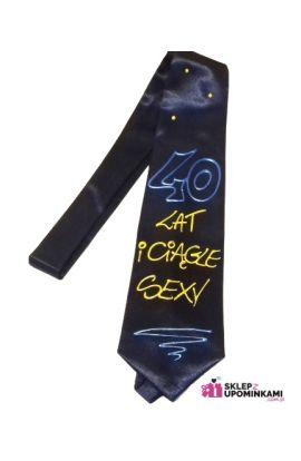 krawat śmieszny prezent na 40 urodziny