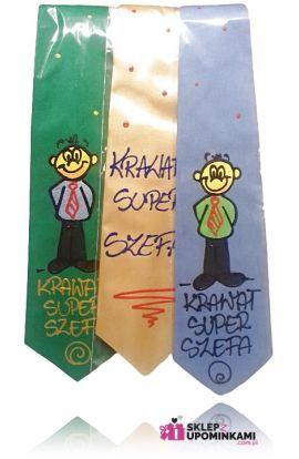 krawat z napisem szefa prezent pamiątka