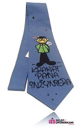 krawat z napisem pana inżyniera prezent pamiątka
