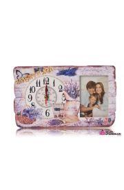 Zegar i ramka na zdjęcie ładny prezent na Emeryturę