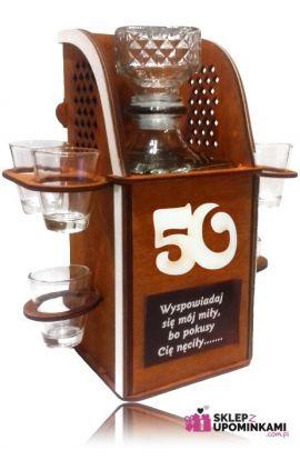 barek kieliszki prezent 50 urodziny