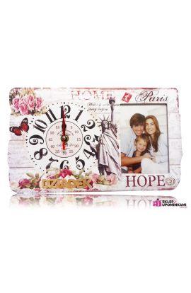 zegar i ramka na zdjęcie prezent dziadka