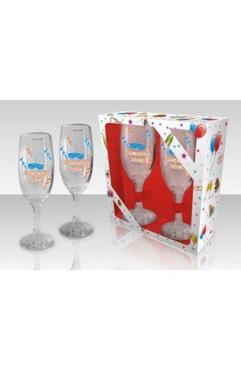 kieliszki do szampana prezent
