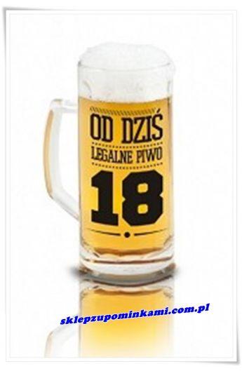 kufel do piwa prezent na 18 urodziny