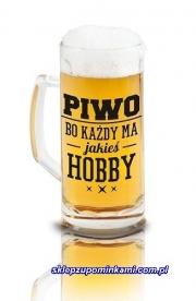Kufel z nadrukiem Piwo Hobby śmieszny prezent