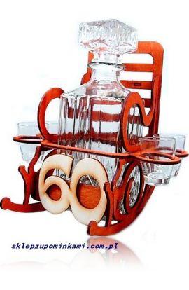 kieliszki stojak fotel na 60 urodziny