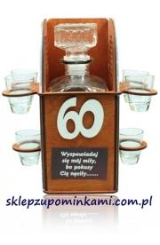 Kieliszki stojak Konfesjonał prezent 60 Urodziny Pana