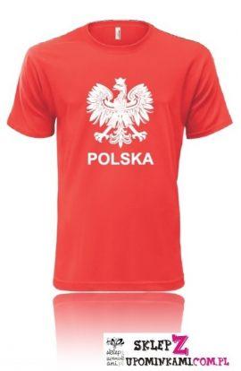 koszulka z nadrukiem polska biało czerwona