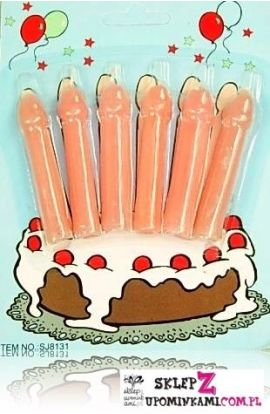 świeczki tortowe kształt penisy śmieszny prezent