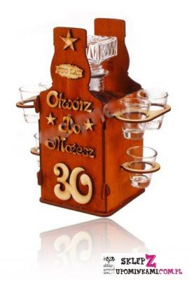 barek koniak kieliszki na 30 urodziny