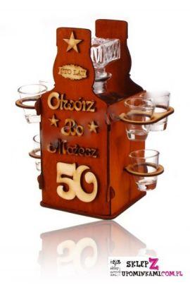 kieliszki barek prezent na 50 urodziny