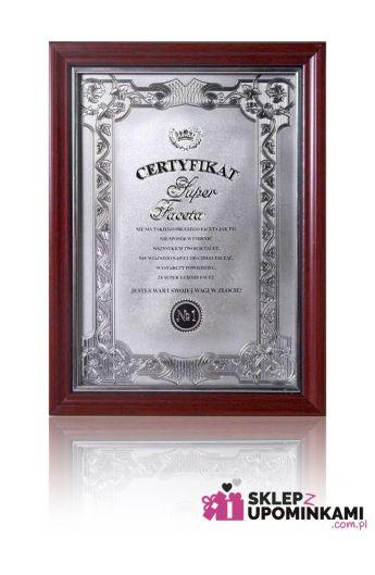 certyfikat dyplom super faceta
