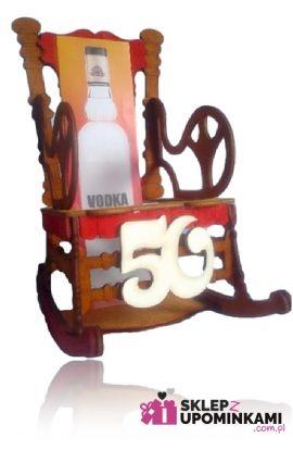 stojak na butelkę prezent na 50 urodziny