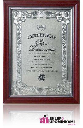 certyfikat dyplom super dziewczyny
