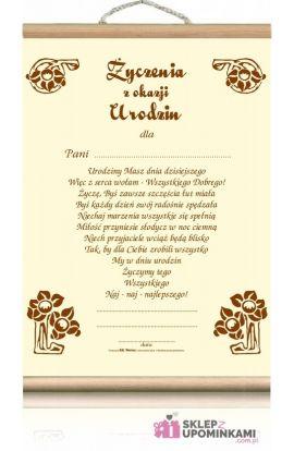 dyplomy okolicznościowe urodziny pani życzenia