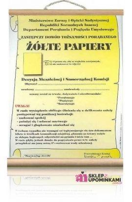 żółte papiery śmieszne dokumenty