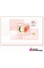 Pamiątka życzenia ślubne Nowożeńcy