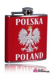 Piersiówka z napisem Polska pamiątka Poland