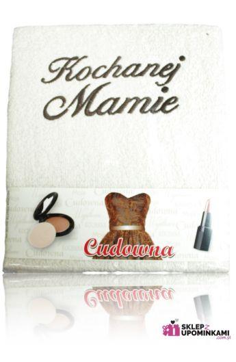 ręcznik z napisem prezent dla mamy