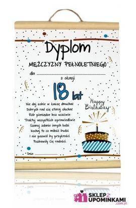 dyplomy życzenia 18 urodziny chłopaka