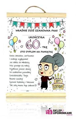 dyplom życzenia na 60 urodziny