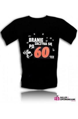 koszulki z nadrukiem prezent na 60 urodziny