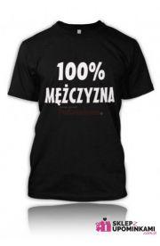 Koszulka z napisem dla Mężczyzny