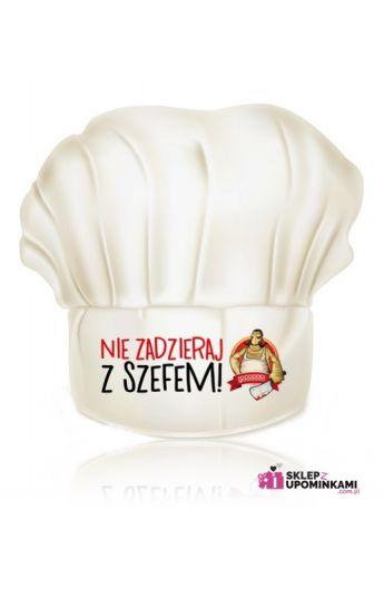 czapka kucharska z napisem śmiesznym