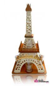 Kieliszki karafka stojak Wieża z napisem