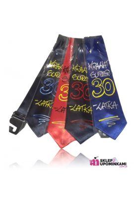 krawat z napisem na 30 Urodziny