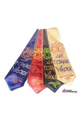 krawat śmieszny na 50 urodziny