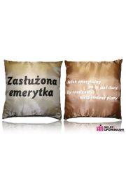 Poduszka z napisem na Emeryturę Emerytki