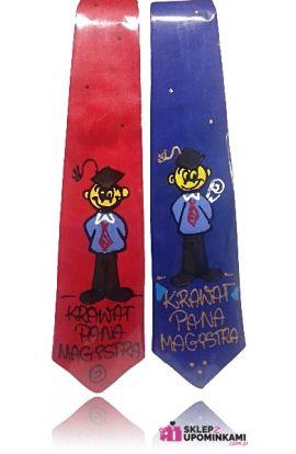 krawat z napisem dla magistra