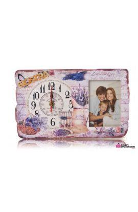 zegar i ramka na zdjęcie prezent siostry brata
