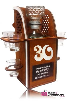 stojak kieliszki na 30 urodziny