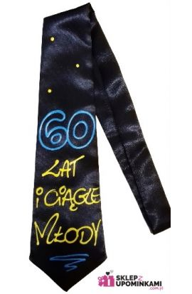 krawat śmieszny na 60 urodziny