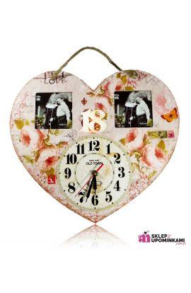 zegar i ramka na zdjęcie prezent urodzinowy